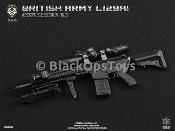 Green Wolf Gear BLACK British L129A1 Sniper Rifle Set Mint in Box