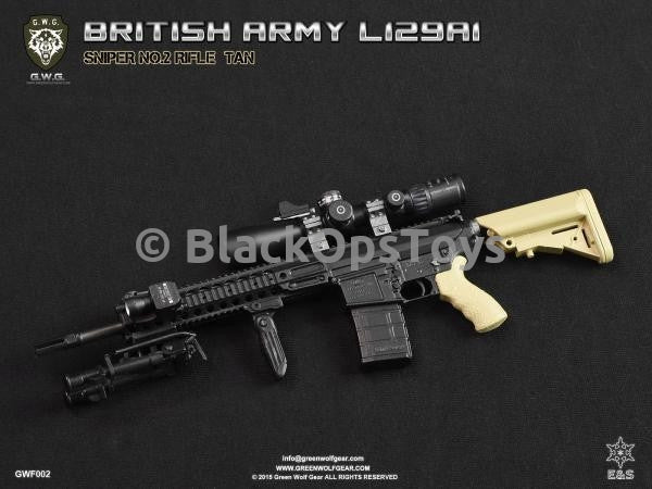 Green Wolf Gear FDE TAN British L129A1 Sniper Rifle Set Mint in Box