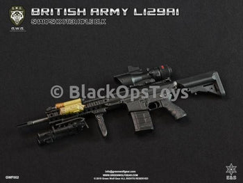 Green Wolf Gear BLACK British L129A1 Sharpshooter Rifle Set Mint in Box