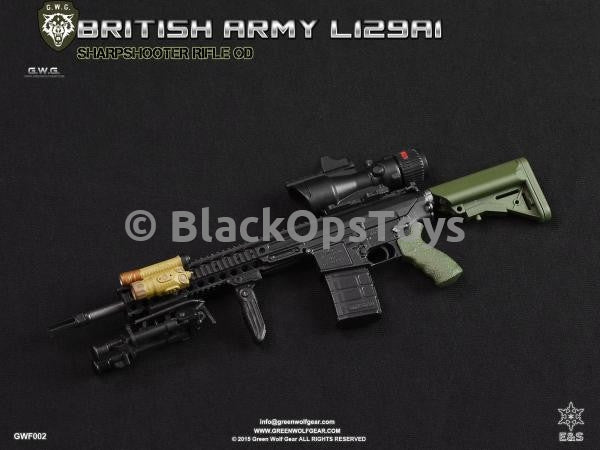 Green Wolf Gear OD GREEN British L129A1 Sharpshooter Rifle Set Mint in Box