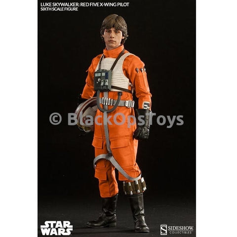 Sideshow Luke Skywalker Red Five X-Wing Pilot Mint In Box
