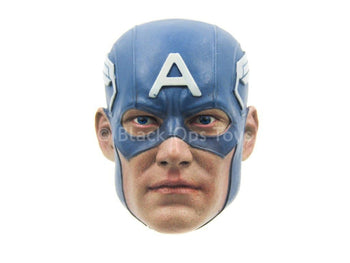 Comic Captain America - Blue Masked Head Sculpt