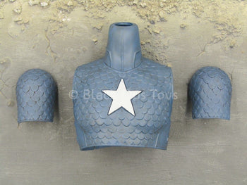 Comic Captain America - Blue Chest Armor w/Shoulder Guards