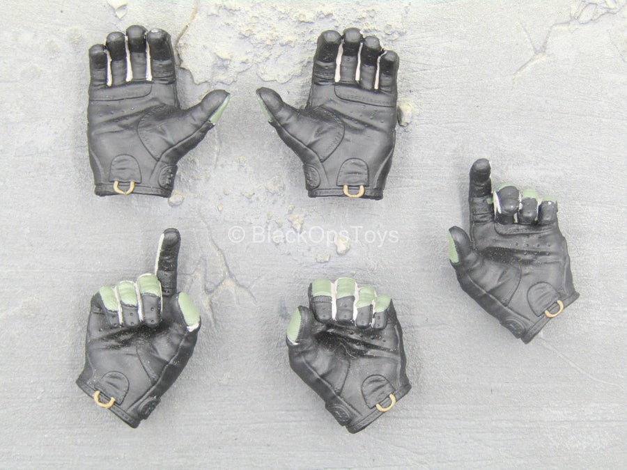 DEA SRT Agent El Paso - Green & Black Gloved Hands Set (x5)