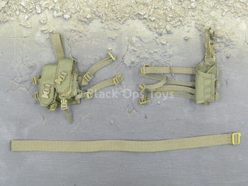 Female Soldier - Multicam - Tan Belt & Drop Leg Pouch Set