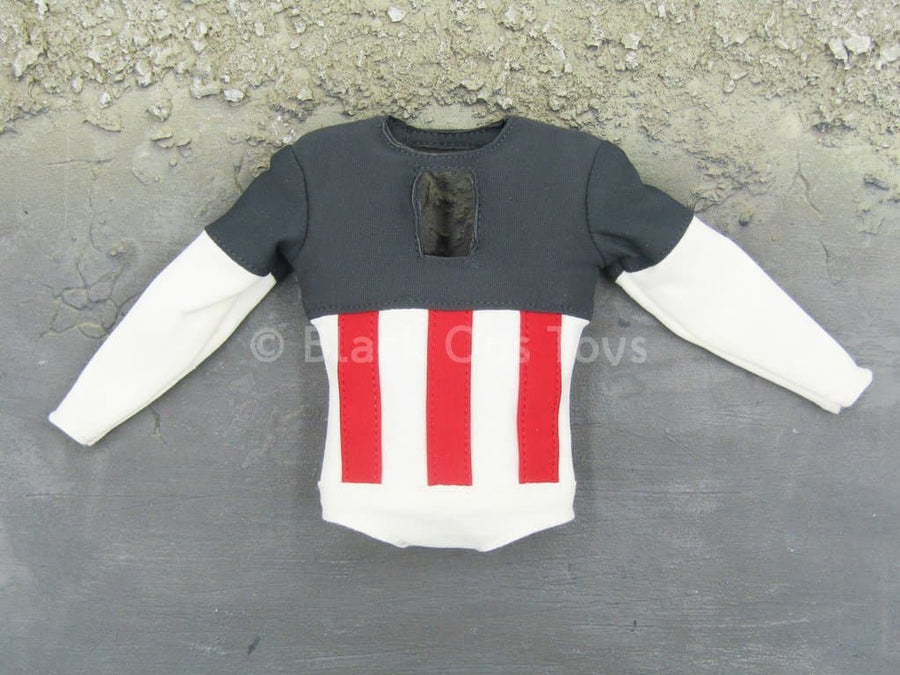 Comic Captain America - Red White & Blue Padded Combat Shirt