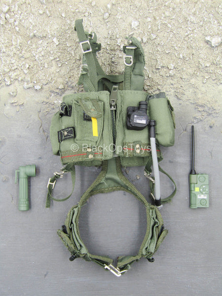Combat Aircrew Pilot - OD Green Flotation Vest w/Belt
