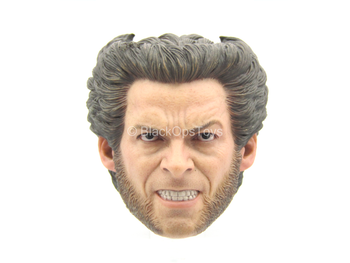 X-Men Last Stand - Wolverine - Male Snarling Head Sculpt