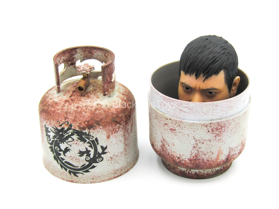 Gas Canister w/Asian Male Head Sculpt - MINT IN BOX