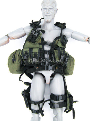 SOCOM Commander Specter - OD Green Vest w/Pouches & Drop Leg Set