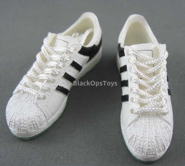 Wild Toys Black and White Adidas Superstar Sneakers (foot Type)