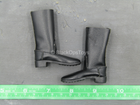 The Chernobyl Rescuer - Black Leather Like Boots (Foot Type)
