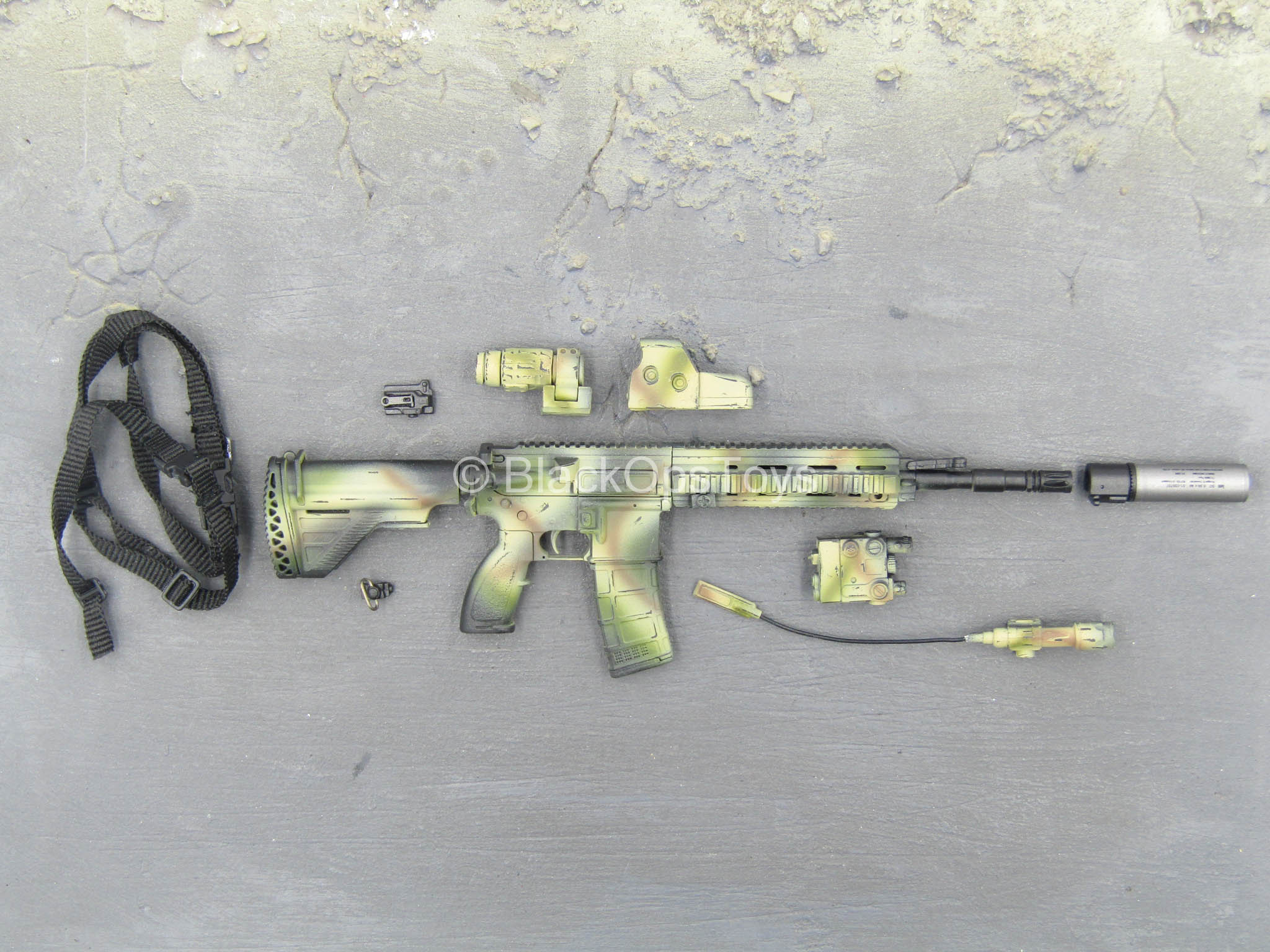 Breacher C.A.G 1//6 scale toy SMU Weathered Camo HK416 Rifle Set
