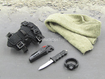 SOCOM Commander Specter - Combat Knife w/Black Sheath & Watch