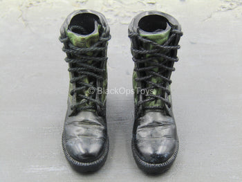 U.S. Army Rangers - Black & Green Combat Boots (Foot Type)