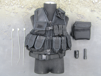 Chinese People's Armed Police - Black Combat Vest w/Pouches