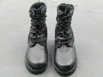 Chinese People's Armed Police - Black Combat Boots (Foot Type)