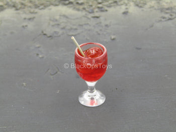 Red Alcohol Glass