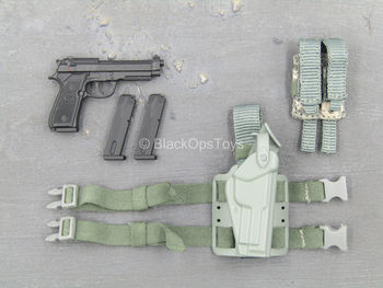 US Army Rifleman UCP - Spring Loaded M9 Pistol w/Drop Leg Holster