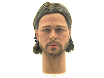 The Zombie Survivor - Male Head Sculpt In Brad Pitt Likeness
