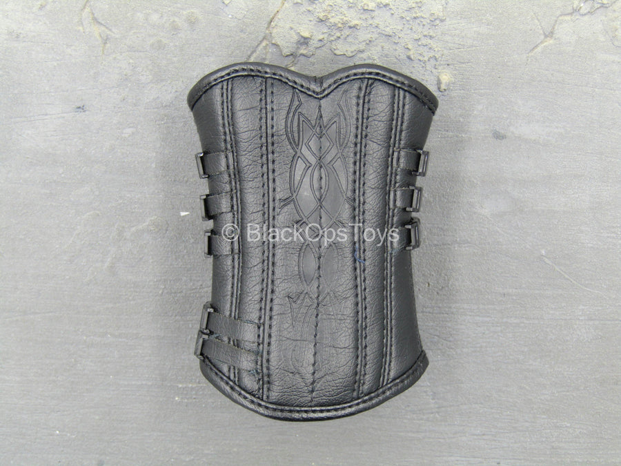 Underworld - Blue Eyed Selene - Black Leather-Like Corset