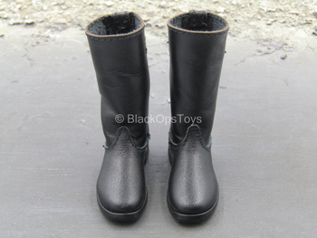 WWII - German Radio Operator - Black Leather Like Boots (Foot Type)