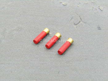 AMMO - Red 12 Gauge Shotgun Shell Set (x3)