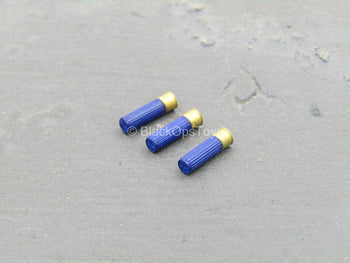 AMMO - Blue 12 Gauge Shotgun Shell Set (x3)