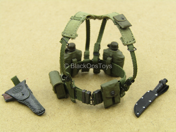 1/12 - Vietnam - M60 Gunner - Green Battle Belt Set