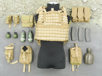 USAF Pararescue Jumper - Tan Assault Vest w/Pouch & Gear Set