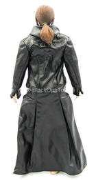 Underworld - Blue Eyed Selene - Black Leather-Like Trench Coat