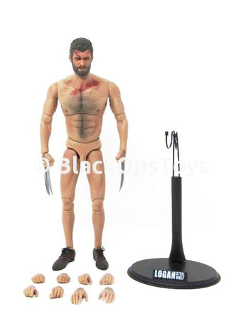X-Men Logan Wolverine Steel Wolf Max 3 Version Complete Male Base Body w/Figure Stand & Extra Hands