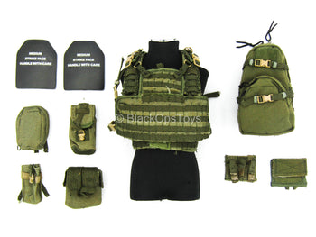 US Army Ranger - OD Green Recon Chest Harness Vest w/Pouches