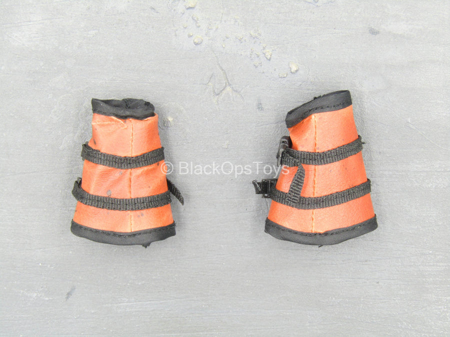 Apexplorers - T-Rex - Black & Orange Wrist Gaiters