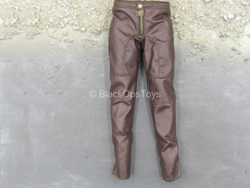 Devil May Cry - Dante - Long Brown Leather-Like Pants