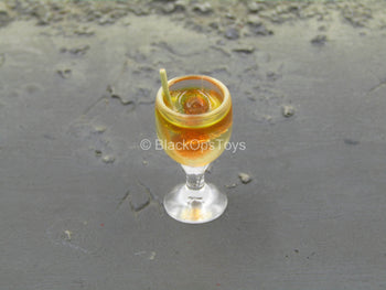 Alcohol Glass w/Straw