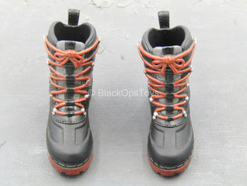 Tough Apexplorers - Adam - Black & Red Boots (Peg Type)