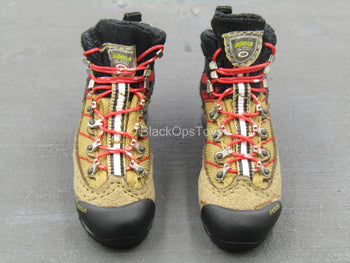 USAF Pararescue Jumper - Tan Combat Boots w/Red Laces (Foot Type)