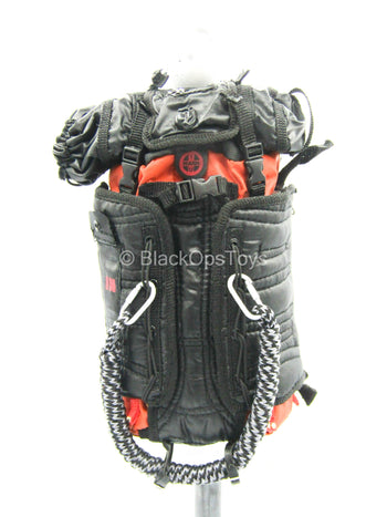 Tough Apexplorers - Adam - Black & Orange Utility Backpack