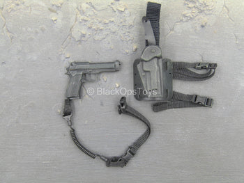 Special Force - Mountain Sniper - Black M9 Pistol w/Drop Leg Holster