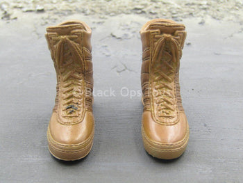 Female Shooter - Coyote Tan Boots (Peg Type)