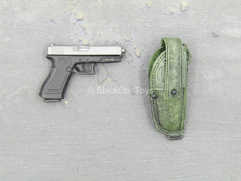 Sully Custom - Black & Grey Pistol w/OD Green MOLLE Holster