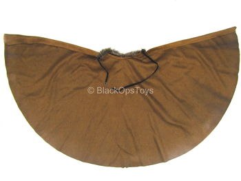 Roman General - Brown Cape w/Fur Like Collar