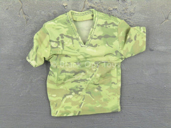 Female Shooter - Multicam - V-Neck T-Shirt
