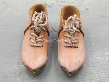 French Crusader General - Light Brown Shoes (Foot Type)