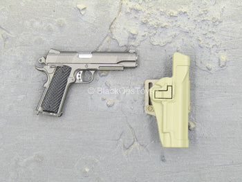Sully Custom - Grey 1911 w/Tan Holster