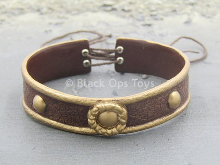 Hercules - Gold & Brown Leather Like Belt