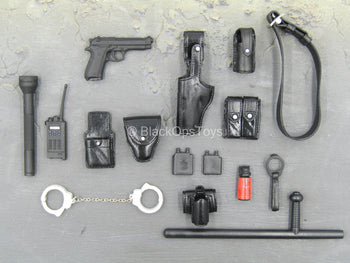 Sully Custom - Black Pistol & Molded Police Pouch & Gear Set