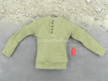 WWII - U.S. Army Infantry - Green Long Sleeve Sweater w/Patch