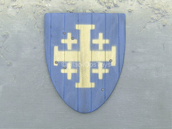 French Crusader General - Blue Wood-Like Shield